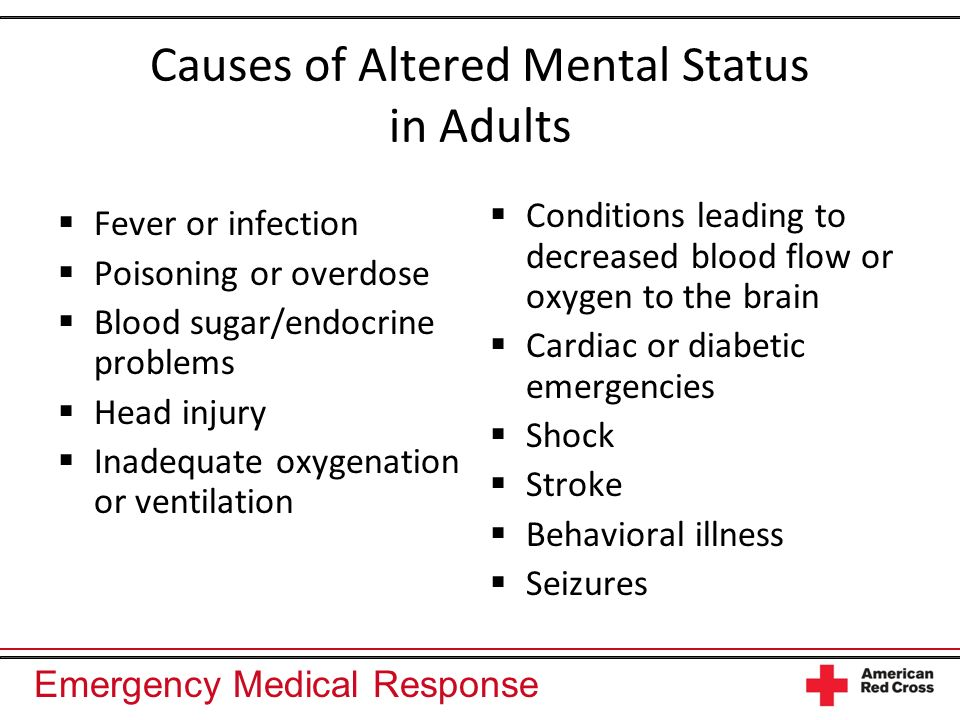 Causes of Altered Mental Status in Adults
