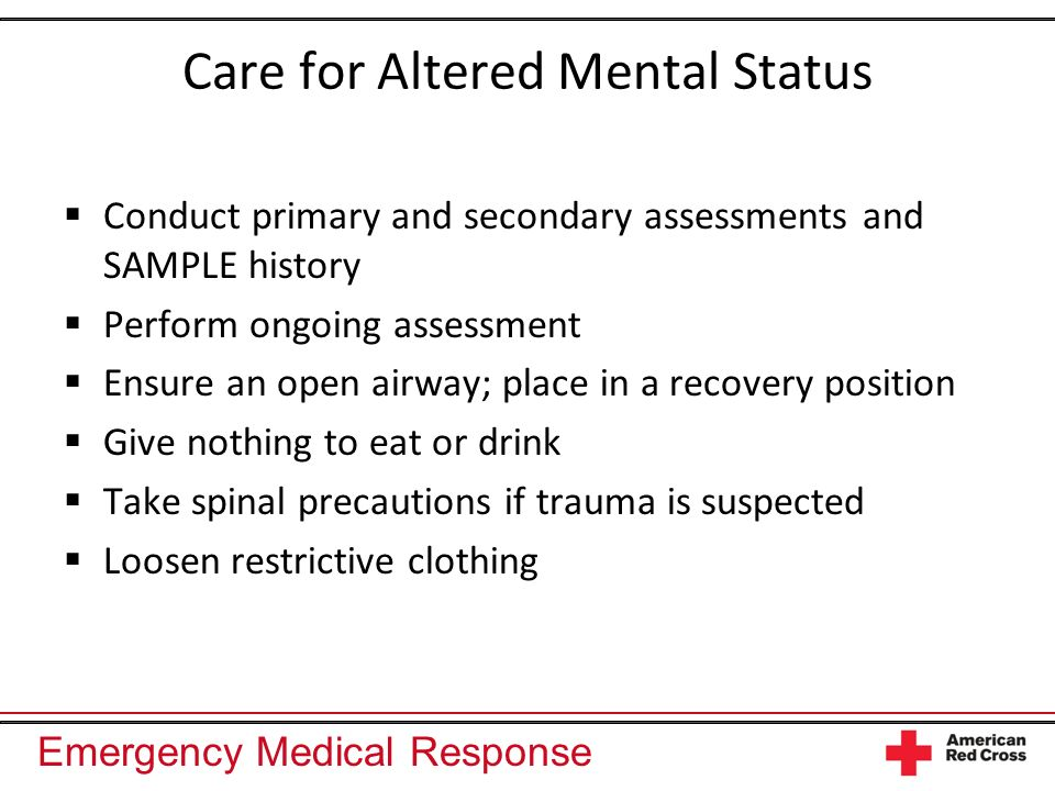 Care for Altered Mental Status