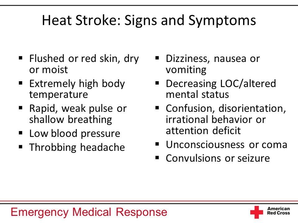 Heat Stroke: Signs and Symptoms