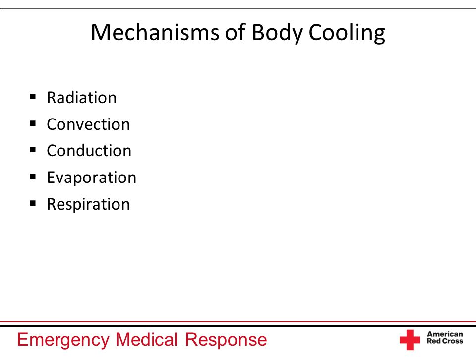 Mechanisms of Body Cooling