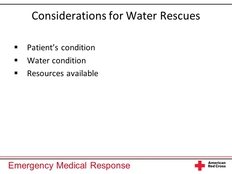 Considerations for Water Rescues