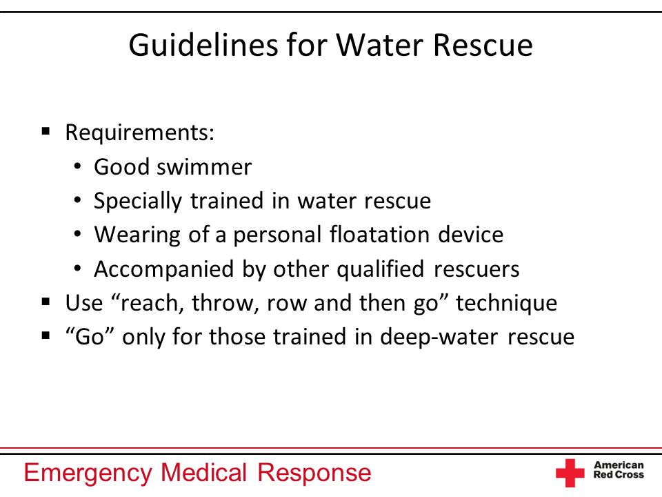 Guidelines for Water Rescue