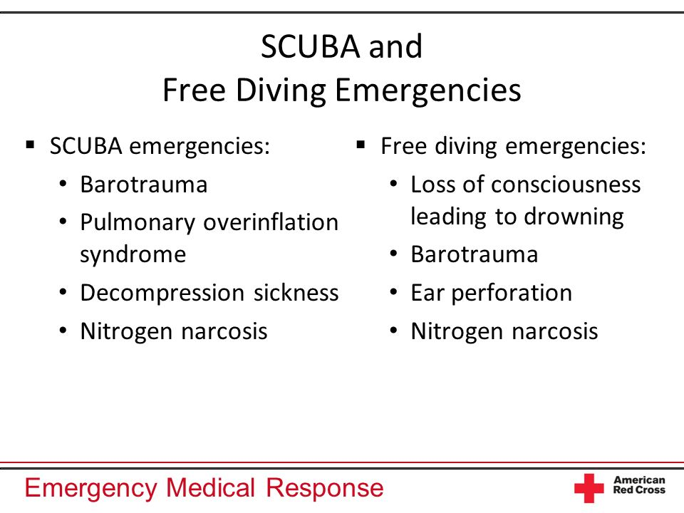 SCUBA and Free Diving Emergencies