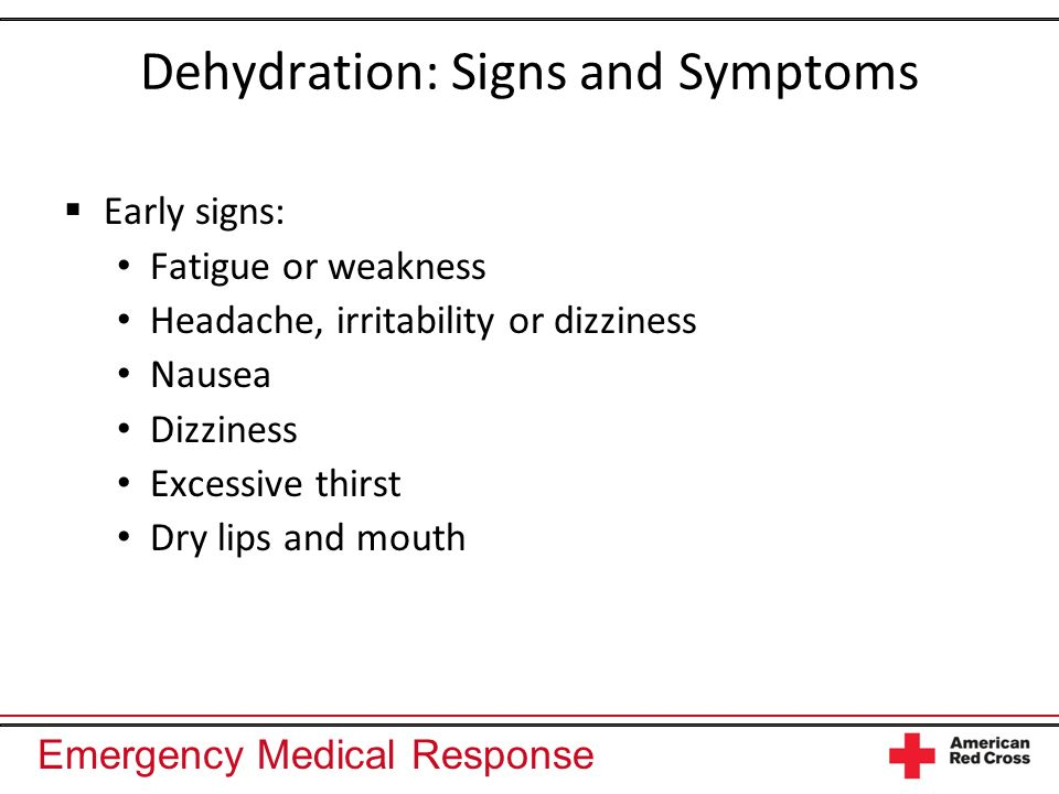 Dehydration: Signs and Symptoms