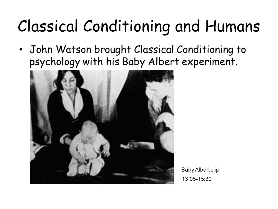 Classical Conditioning and Humans