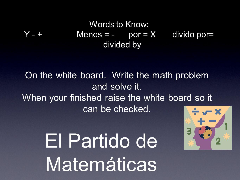 El Partido de Matemáticas