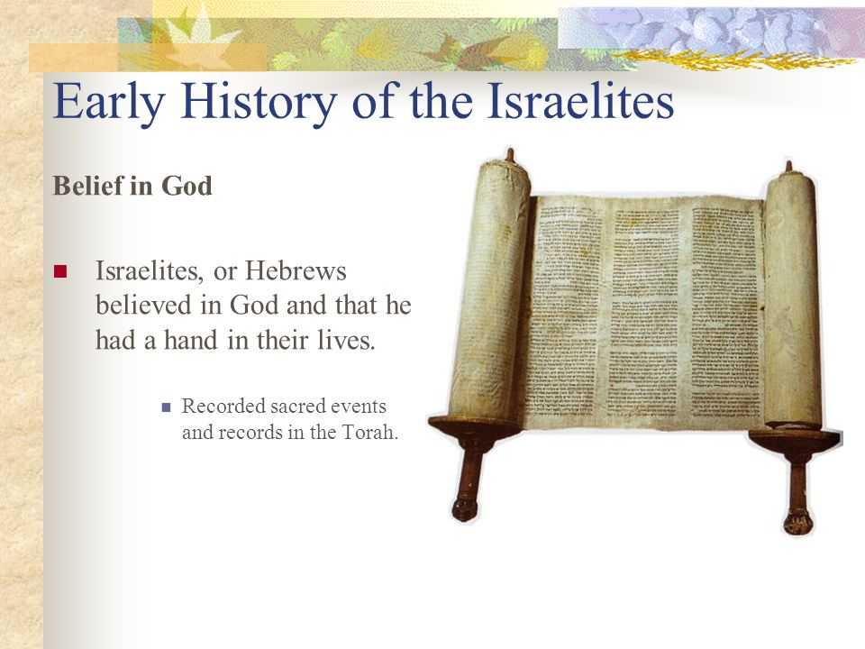 Early History of the Israelites