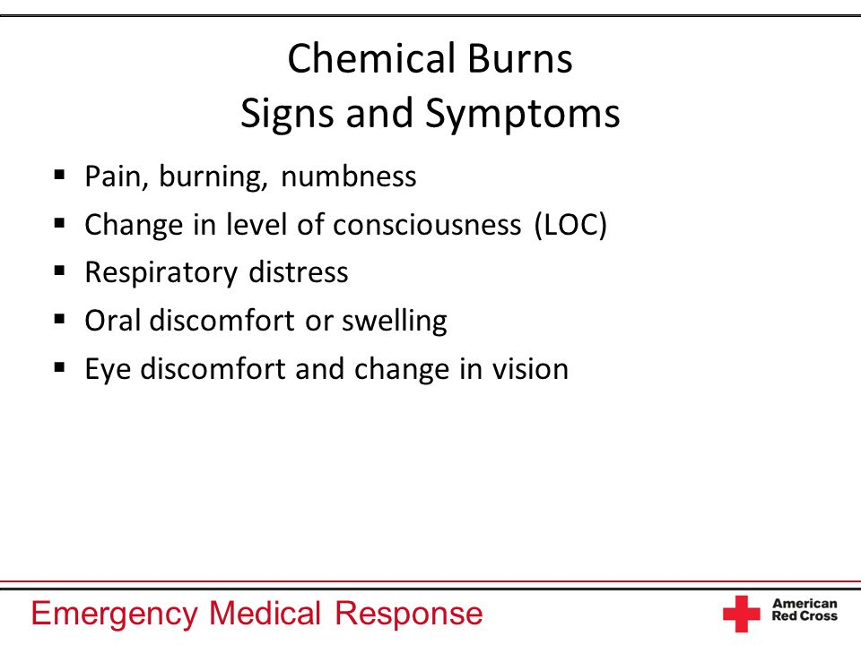 Chemical Burns Signs and Symptoms