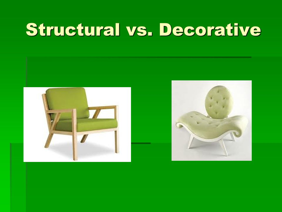 Structural vs. Decorative