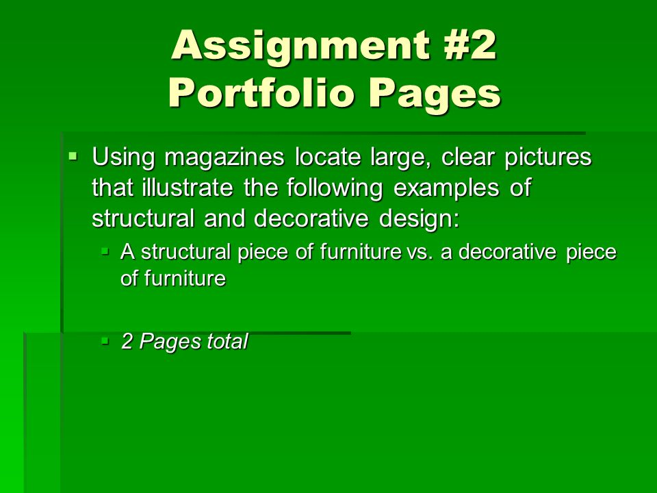 Assignment #2 Portfolio Pages