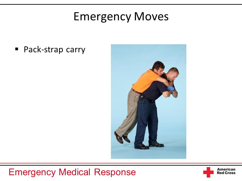 Emergency Moves Pack-strap carry