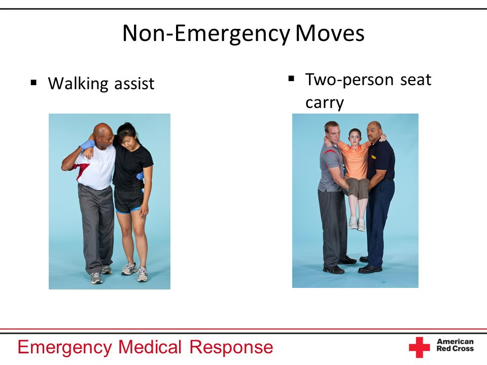 Non-Emergency Moves Two-person seat carry Walking assist