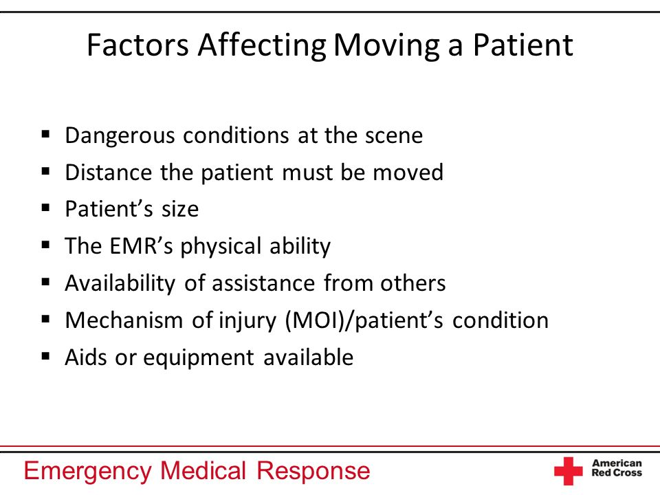 Factors Affecting Moving a Patient
