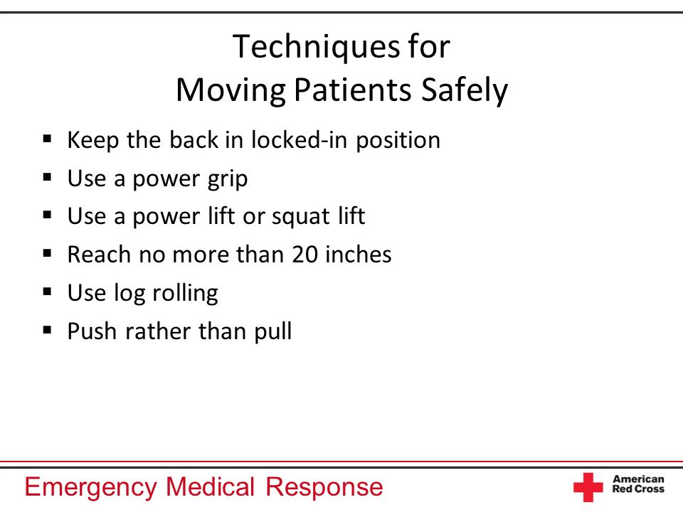 Techniques for Moving Patients Safely