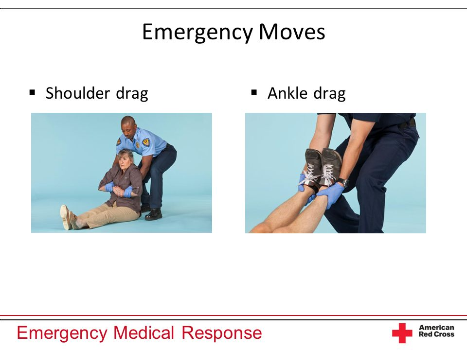 Emergency Moves Shoulder drag Ankle drag