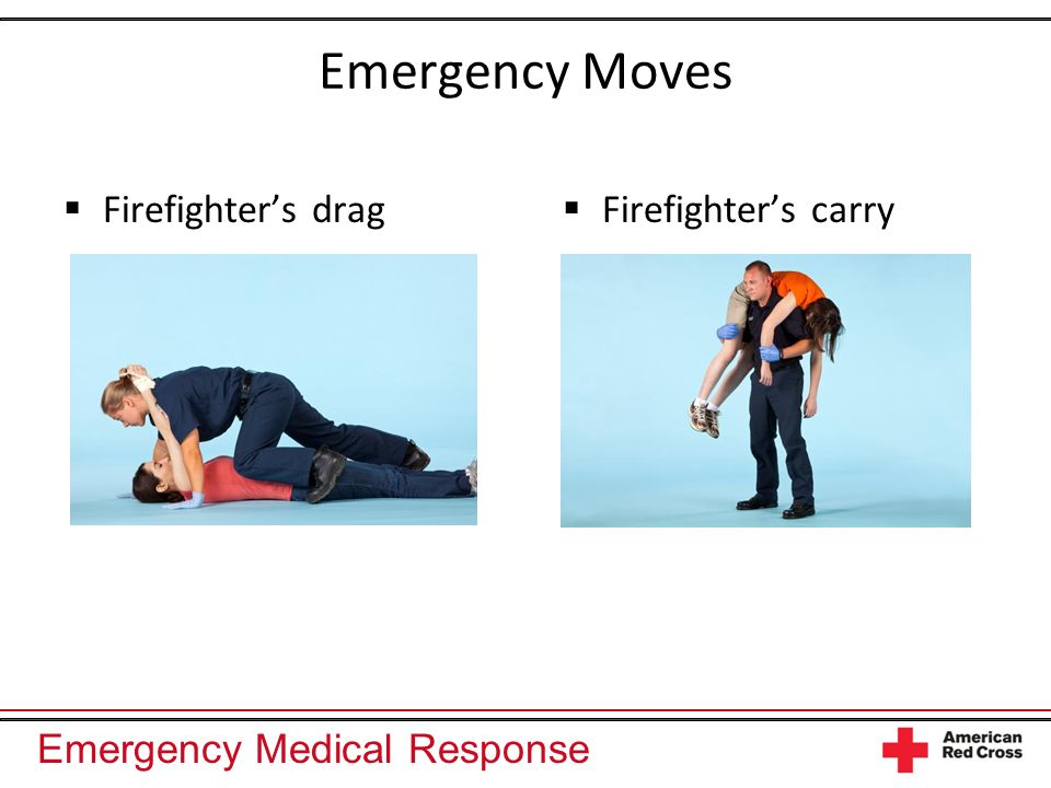 Emergency Moves Firefighter's drag Firefighter's carry
