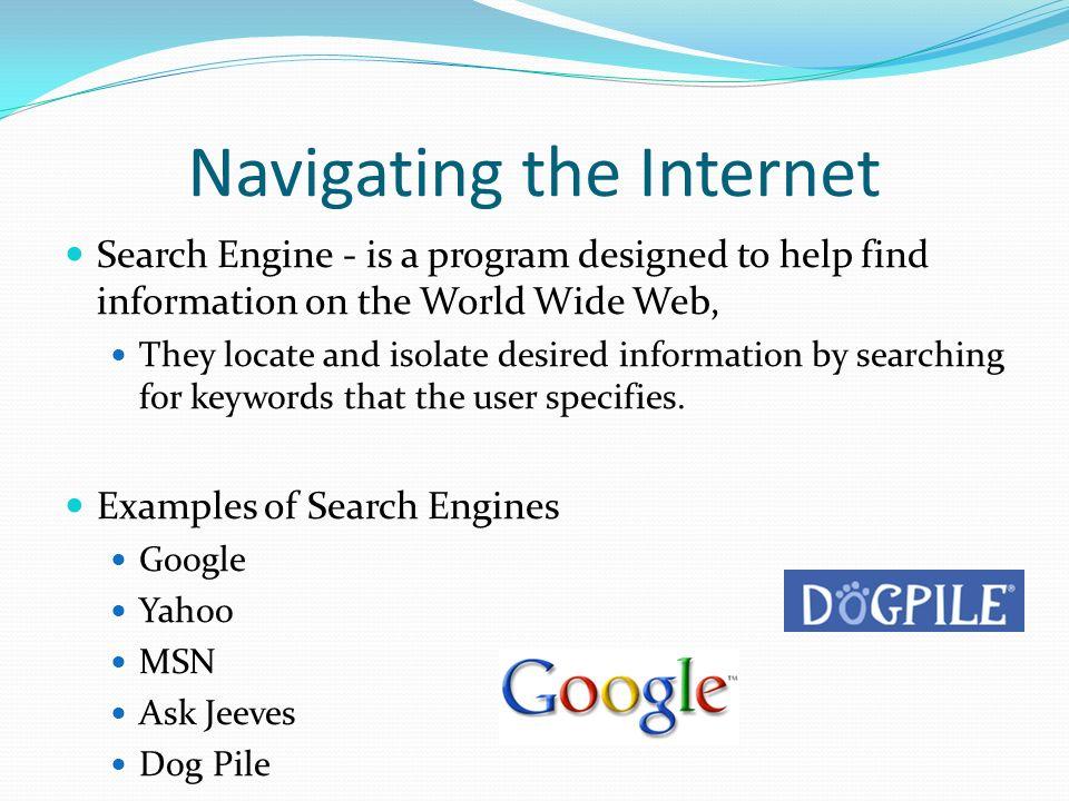 Navigating the Internet