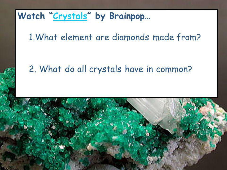 Watch Crystals by Brainpop…