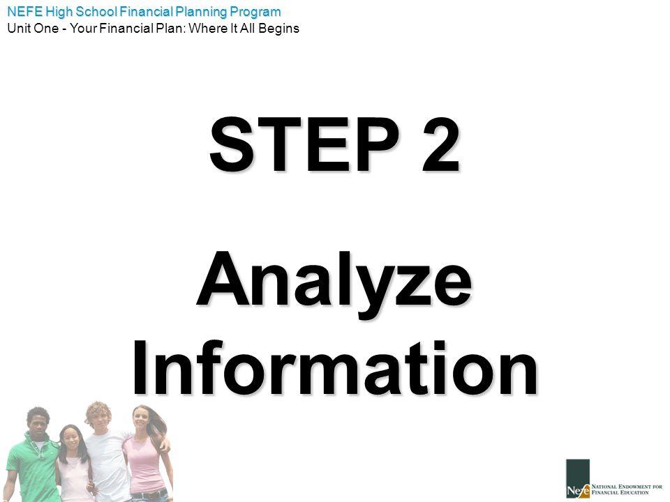 STEP 2 Analyze Information