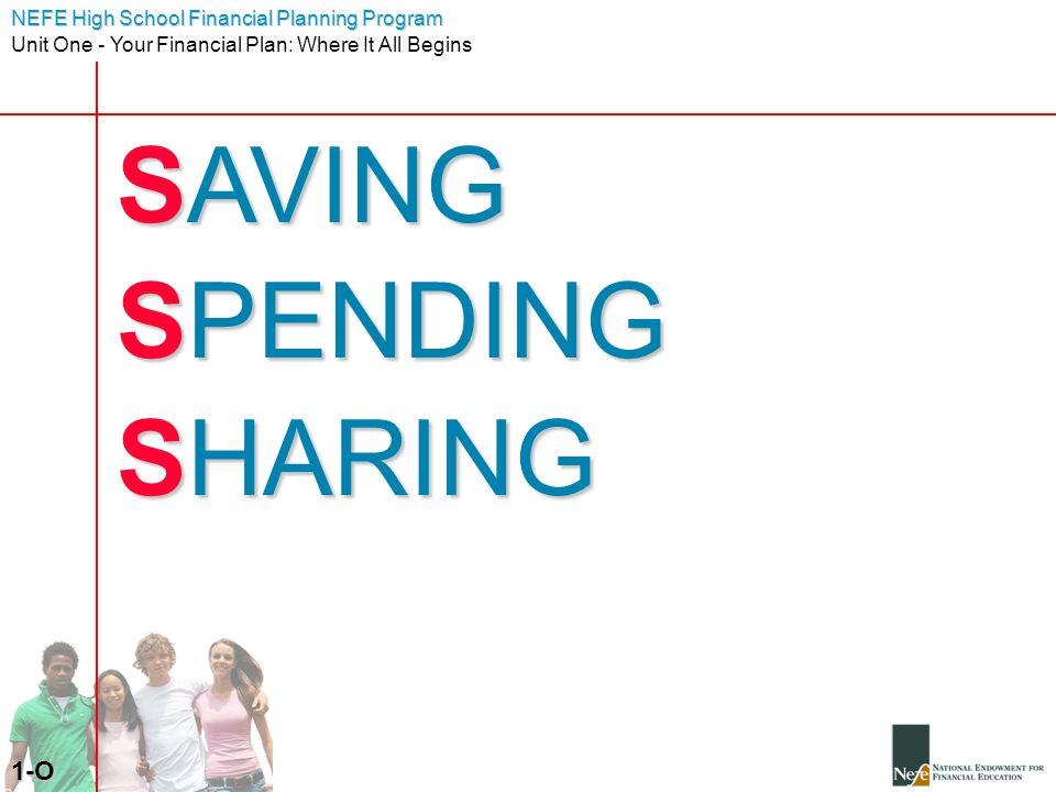 SAVING SPENDING SHARING 1-O