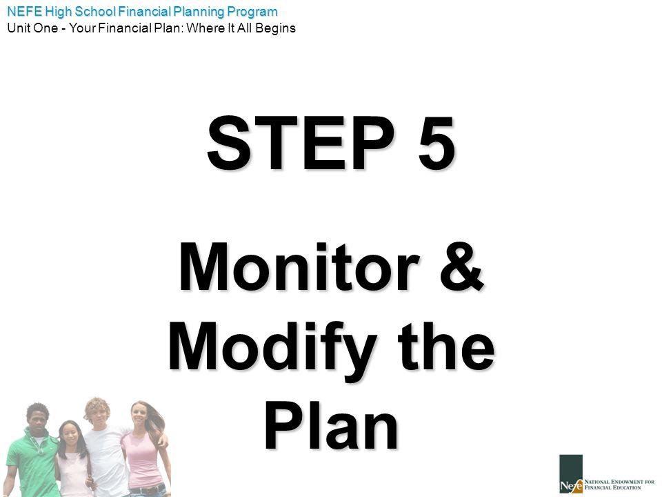 Monitor & Modify the Plan