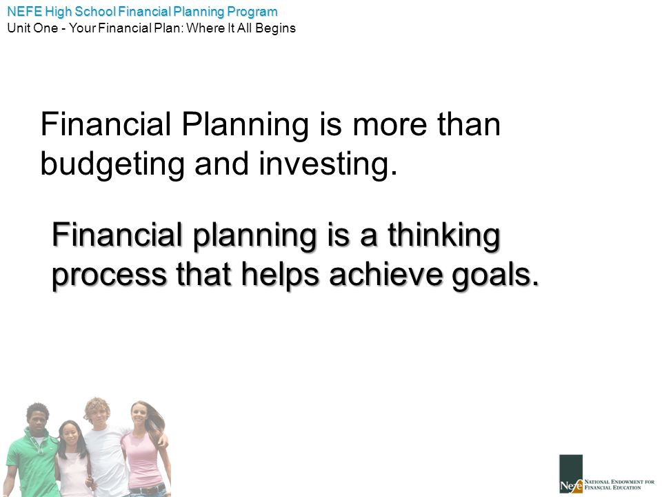 Financial Planning is more than budgeting and investing.