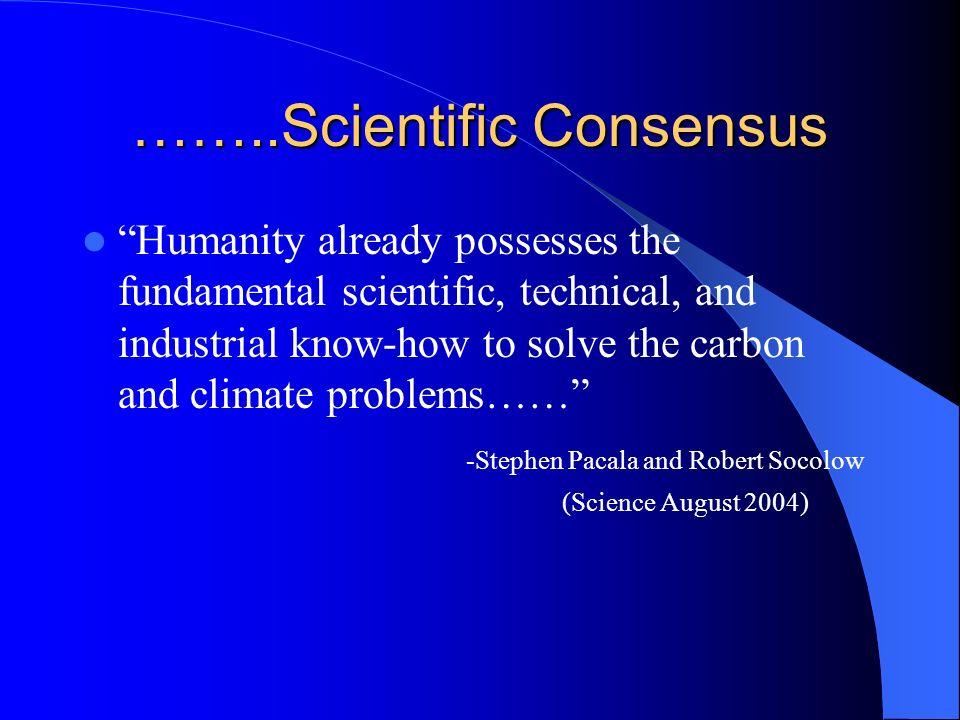 ……..Scientific Consensus