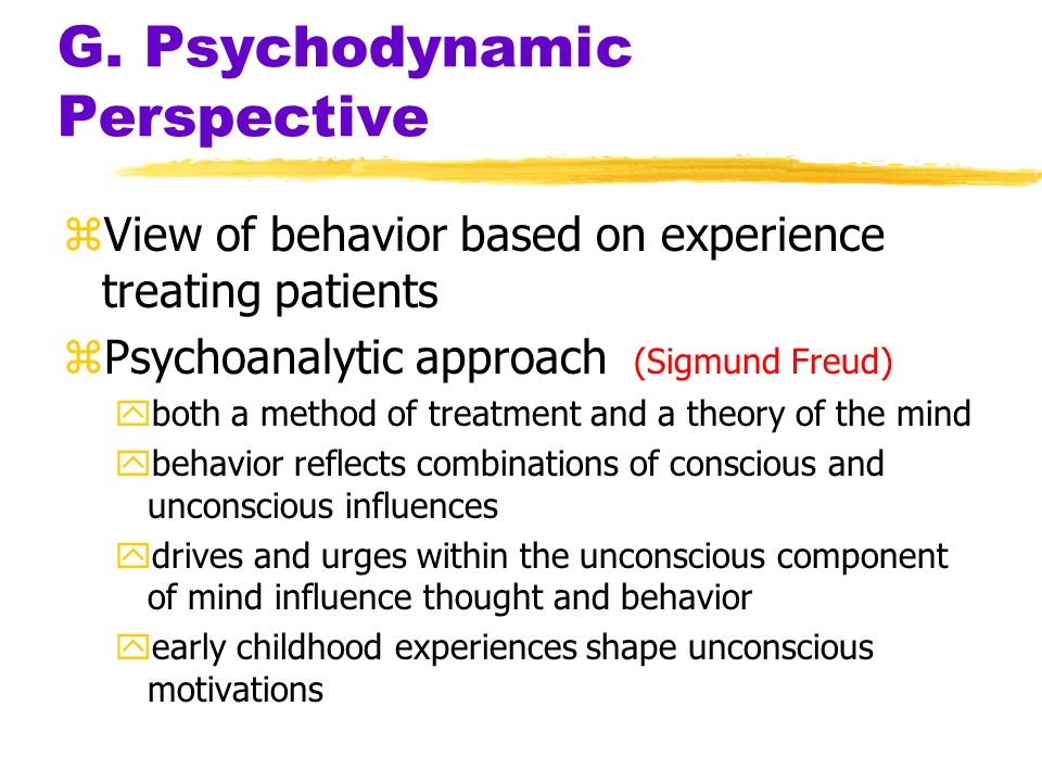 G. Psychodynamic Perspective