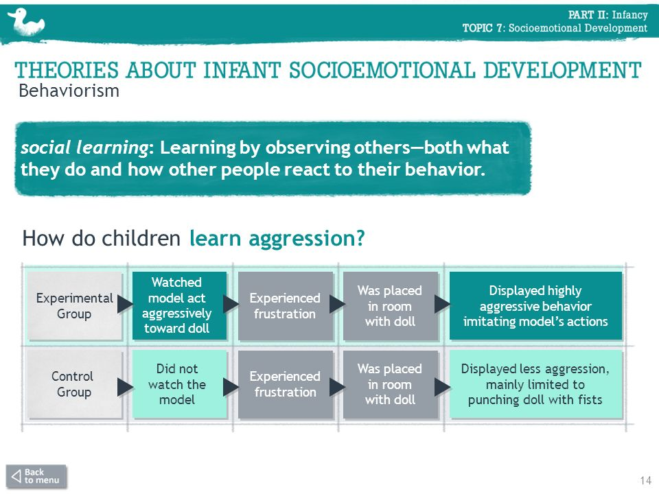 How do children learn aggression