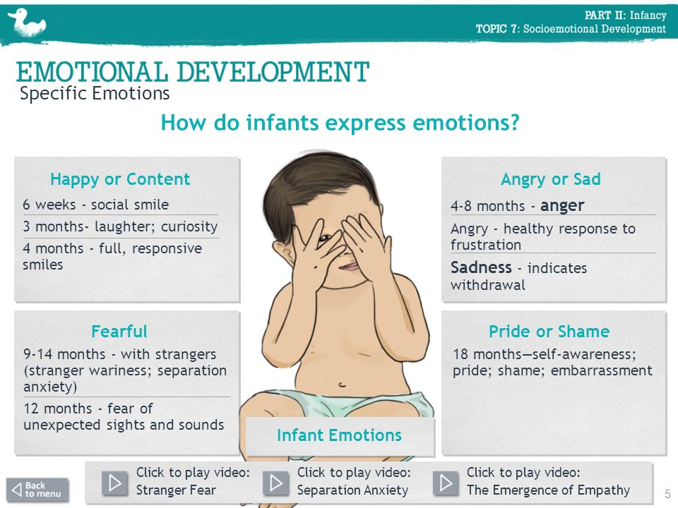 How do infants express emotions