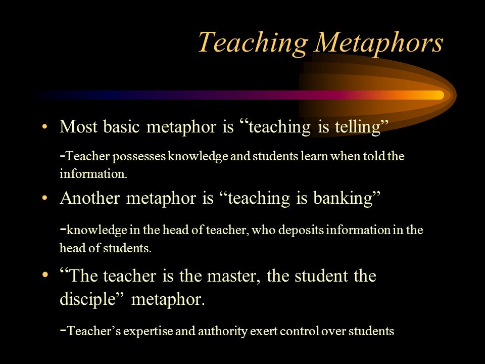 teacher metaphor As teachers are preparing overall teacher judgments for the reporting of national  standards it struck me that parents and students may not be.
