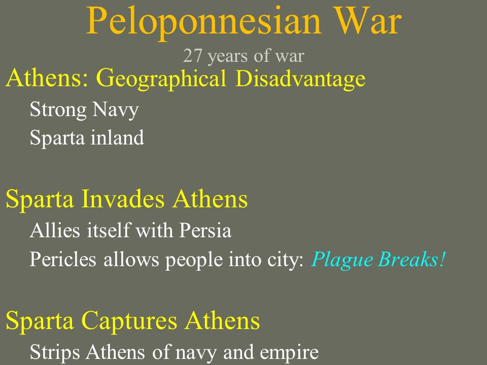 Peloponnesian War 27 years of war