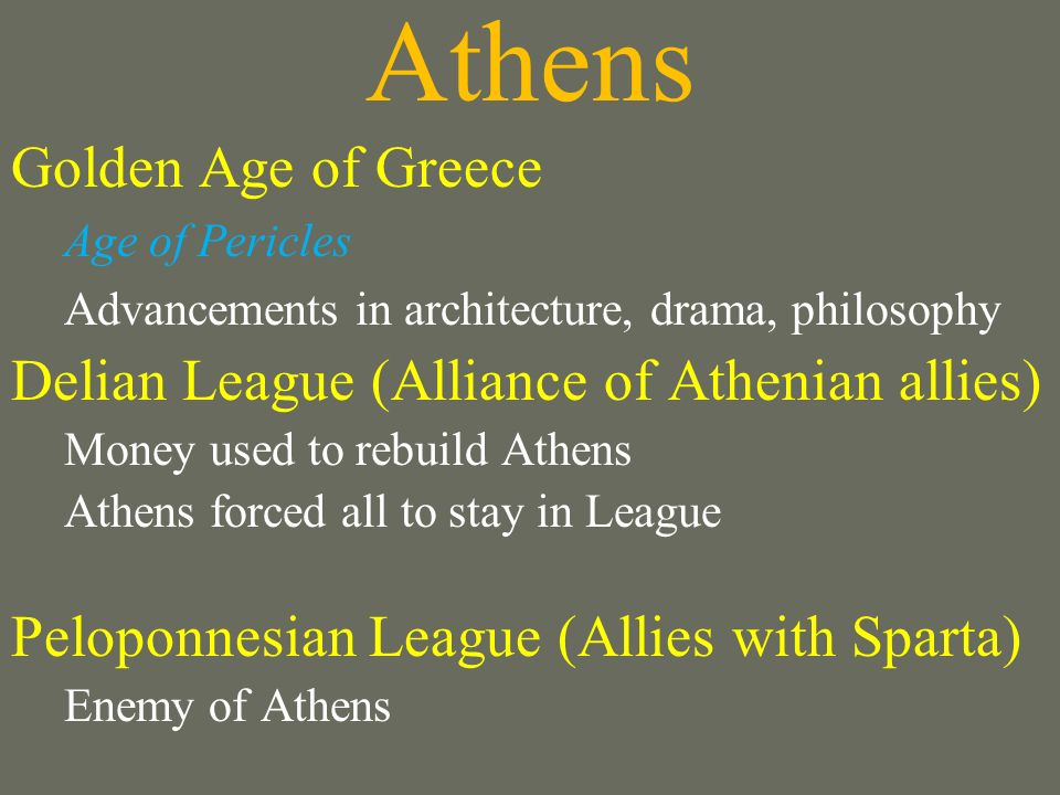 Athens Golden Age of Greece