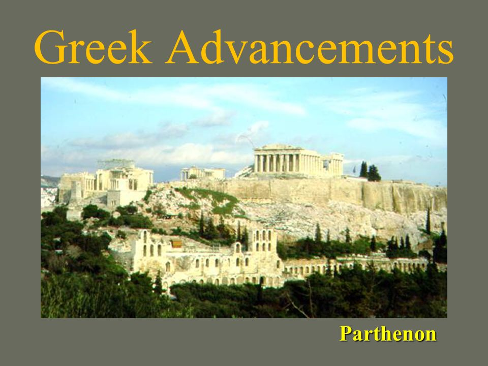 Greek Advancements Parthenon