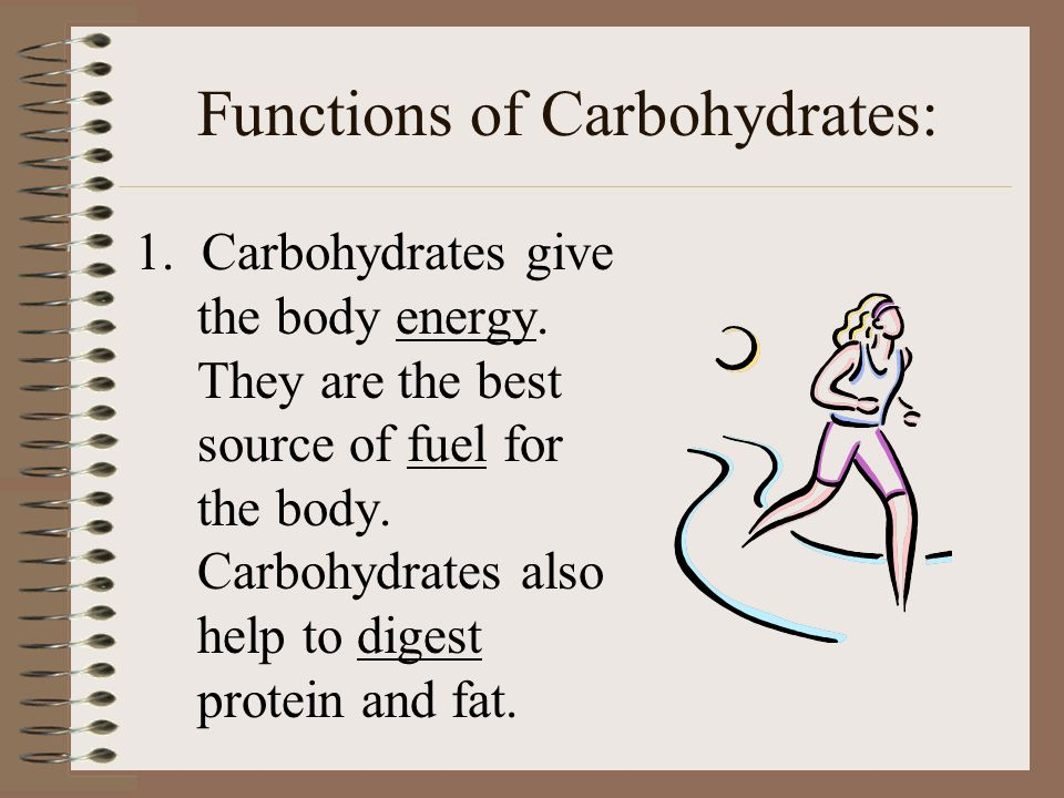 Functions of Carbohydrates:
