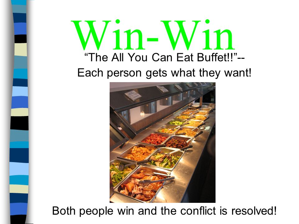 Win-Win The All You Can Eat Buffet!! --
