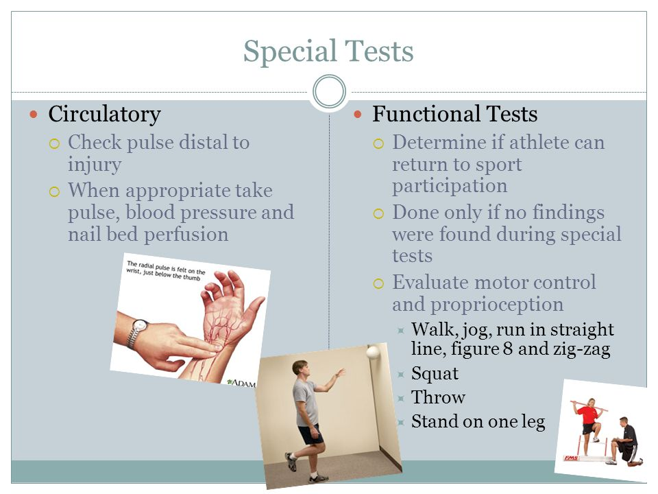 Special Tests Circulatory Functional Tests