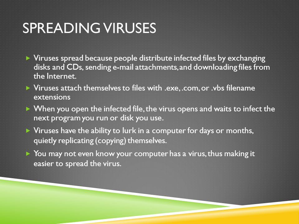 Spreading Viruses