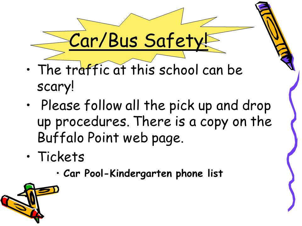 Car/Bus Safety! The traffic at this school can be scary!