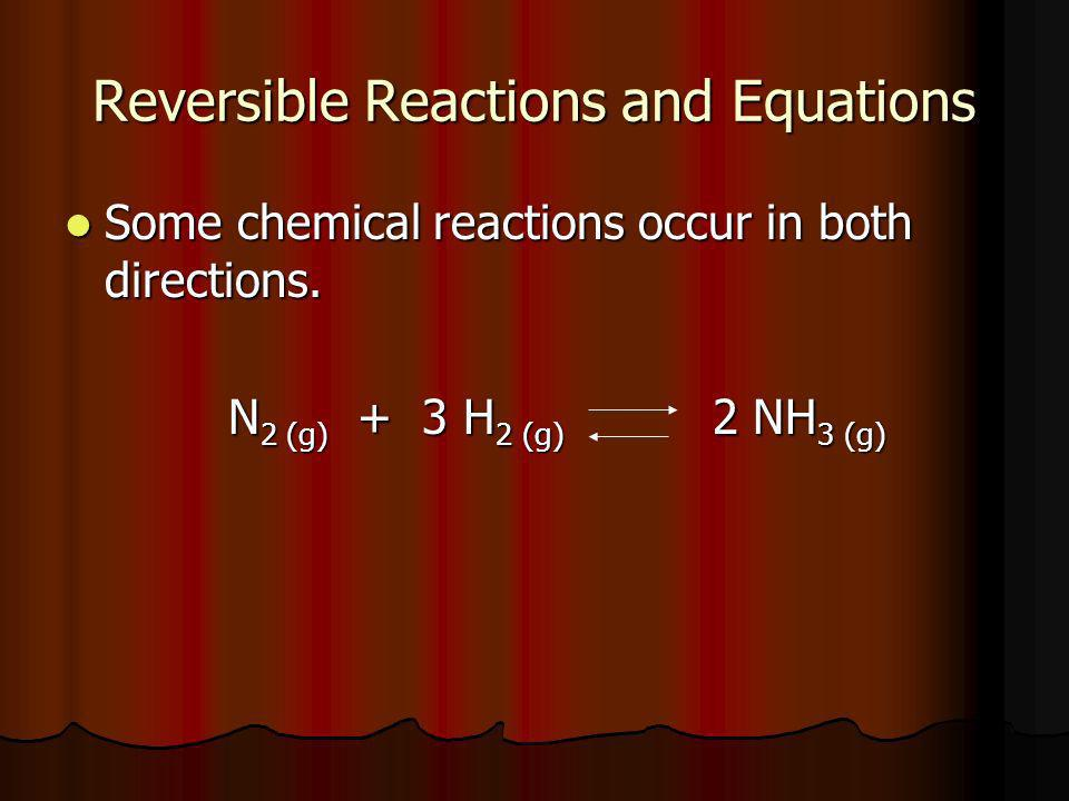 Reversible Reactions and Equations