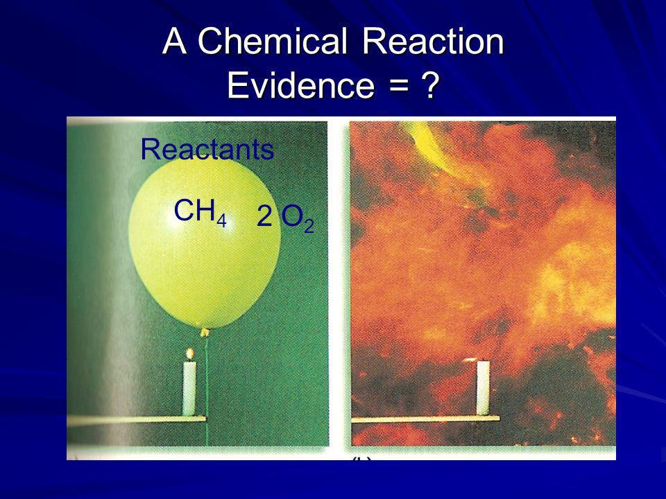 A Chemical Reaction Evidence =