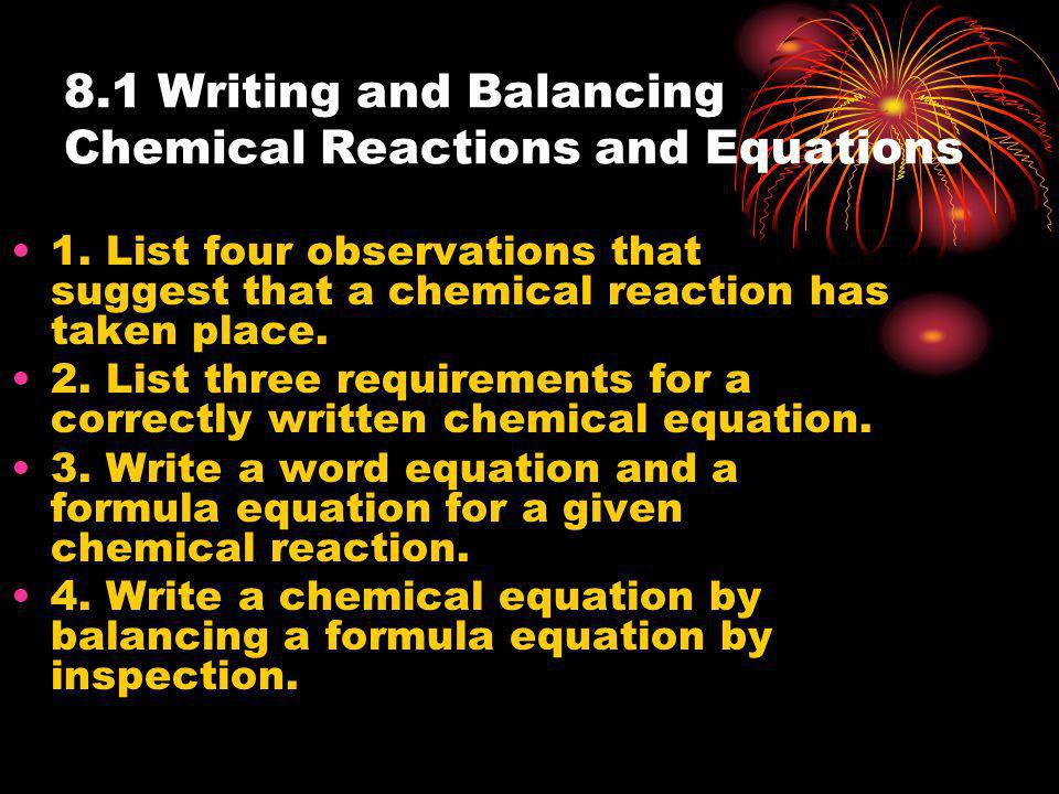 the four evidences of a chemical reaction essay Chemical reactions (grade 8)  chemical reactions 1 the only sure evidence for a chemical reaction is  paper turning soft when wet.