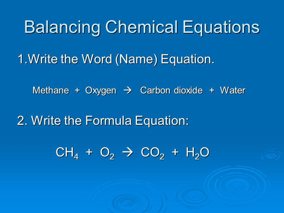 Writing balanced equation for the reaction?