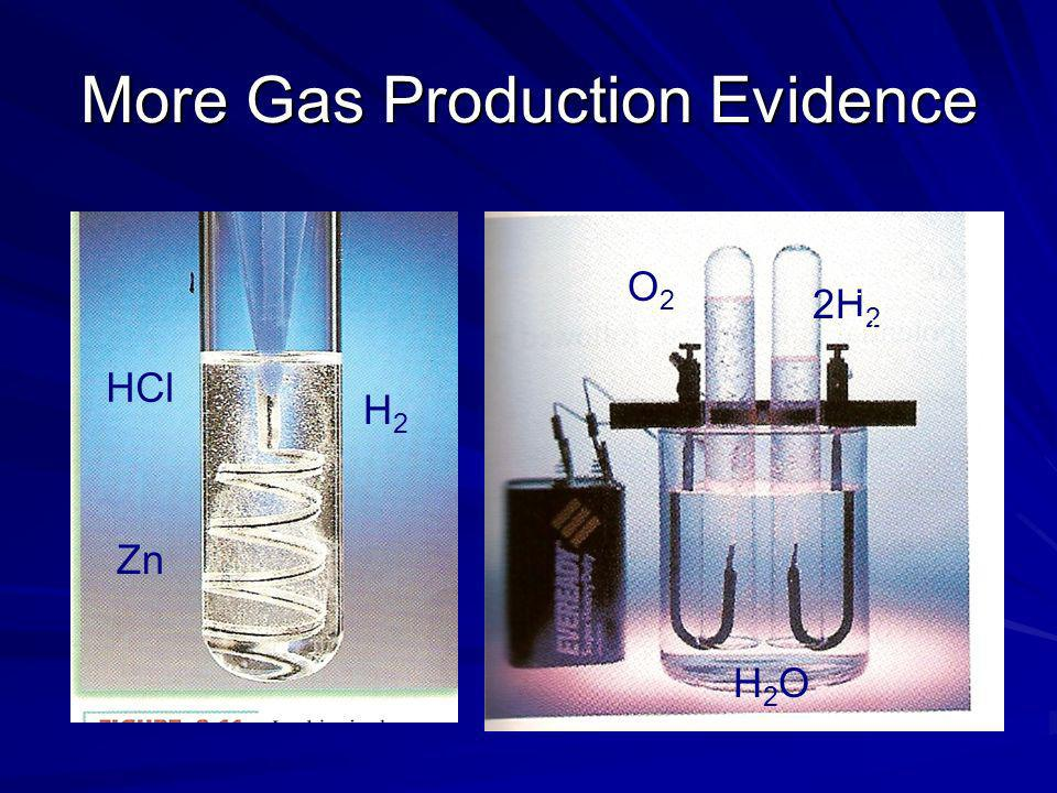 More Gas Production Evidence