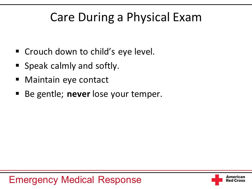 Care During a Physical Exam