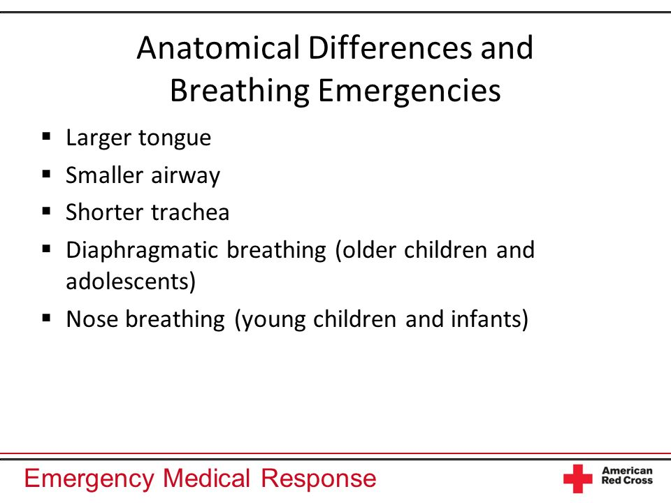 Anatomical Differences and Breathing Emergencies