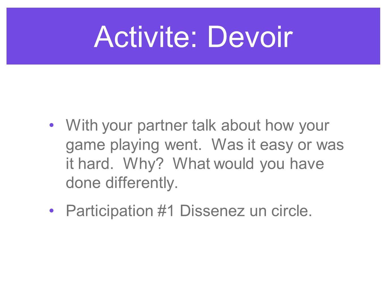 Activite: Devoir