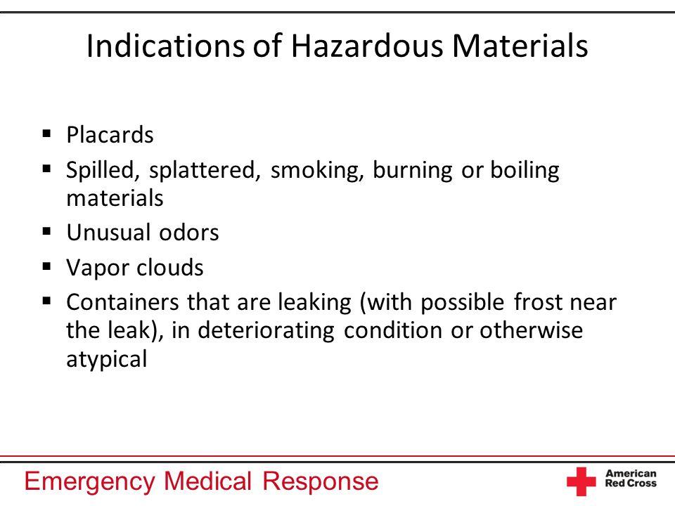 Indications of Hazardous Materials
