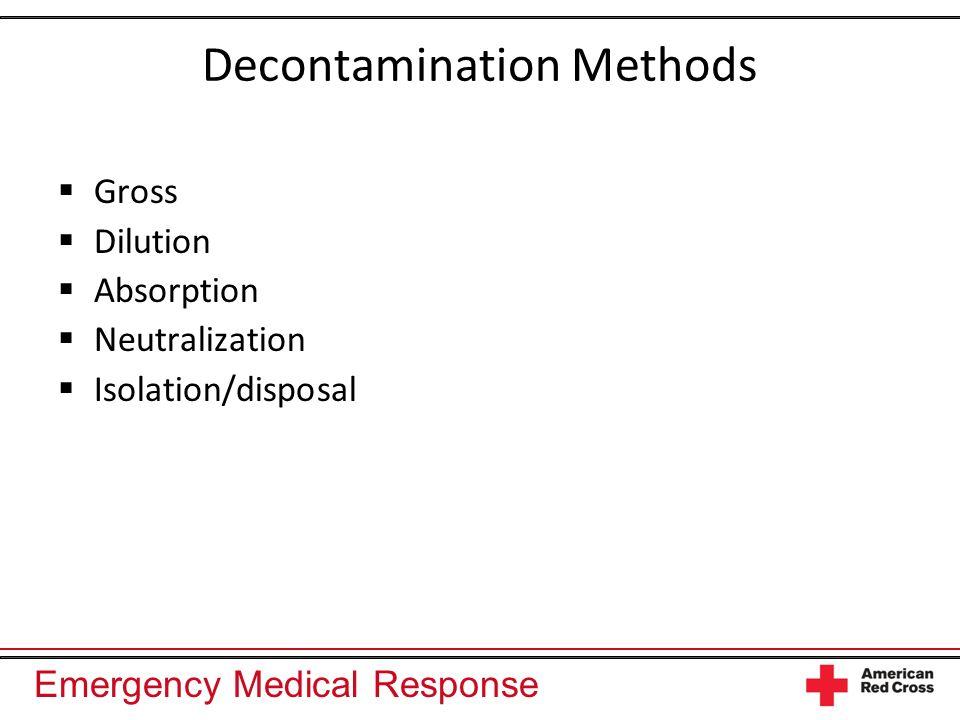 Decontamination Methods