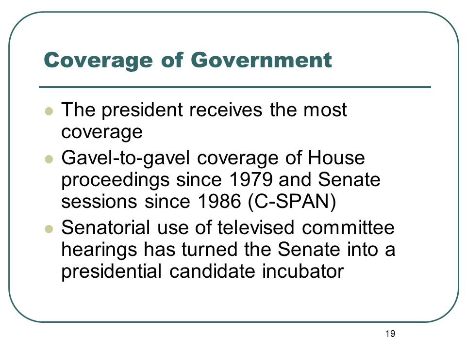 Coverage of Government